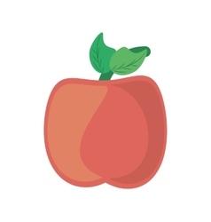 cartoon apple school symbol icon vector image
