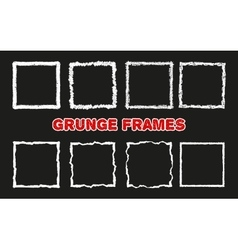 Chalk crayon squares on black vector image vector image
