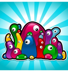 colorful slimy party vector image vector image