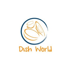 Dish world concept design template vector