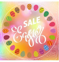 Easter egg sale banner background template 31 vector