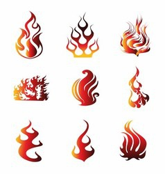 Fire Symbol Icons vector image