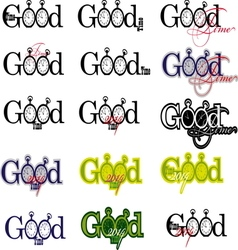 GOOD TIME 1 resize vector image vector image