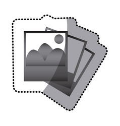grayscale pictures photos icon vector image vector image