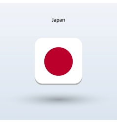 Japan flag icon vector image
