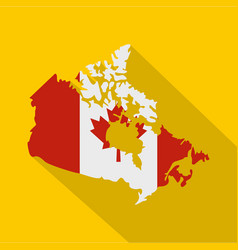 map of canada in national flag colors icon vector image vector image