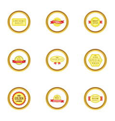 medal icons set cartoon style vector image vector image