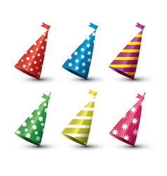 party hat isolated set on white background vector image