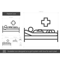 Patient line icon vector