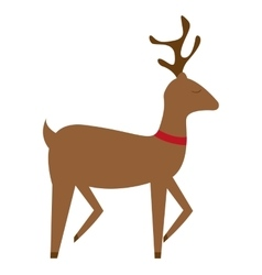 Reindeer christmas cute animal vector