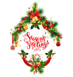 season holiday greeting vector image vector image