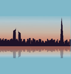 Silhouette of arab building scenery vector