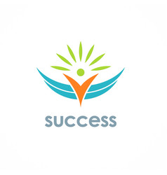 success people logo vector image vector image