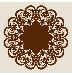 Template mandala pattern for decorative rosette vector