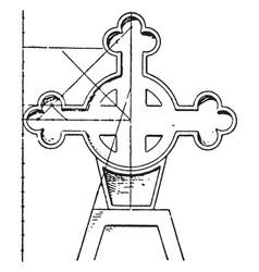 Tomb cross vintage vector