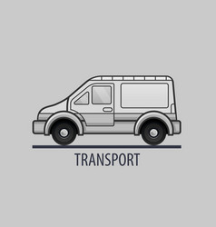 white delivery truck icon flat style vector image