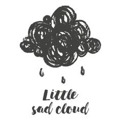 with cartoon handdrawn cloud vector image vector image