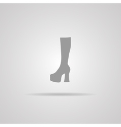 Woman hessian boots icon vector