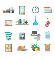 Workplace icons set vector