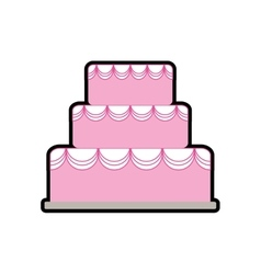 Cake party cream bakery icon graphic vector