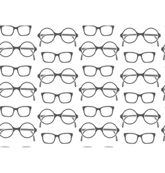 Set of fashionable glasses silhouettes vector