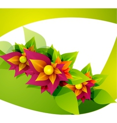 Spring flower abstract background vector