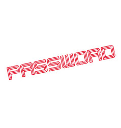 password rubber stamp vector image