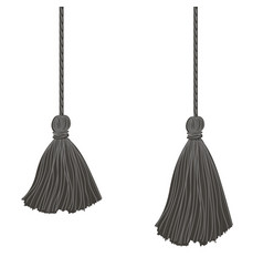 Set of two black hanging decorative tassels vector