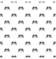 Snow crab pattern vector
