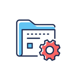 Data management - modern line design icon vector