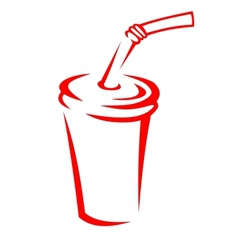 Takeaway soda in a polystyrene cup vector