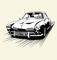Vintage car race vector
