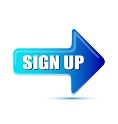 sign up arrow vector image