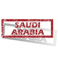 Saudi arabia outlined stamp vector