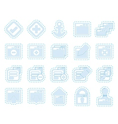 Application Programming Server and computer icon vector image