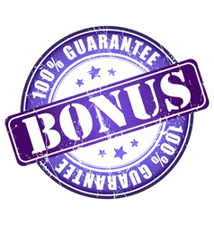 Bonus 100 guarantee stamp vector