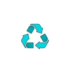 Recycling symbol logo isolated on white vector