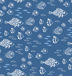 Cute summer fishes vector image