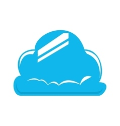 Blue cloud icon weather design graphic vector