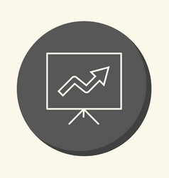 A stand with a growth chart a circular vector