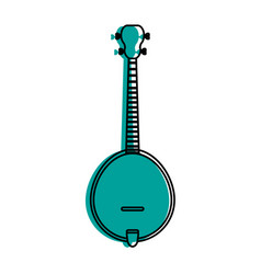 acoustic guitar banjo icon image vector image vector image
