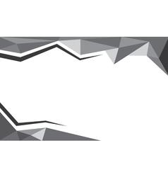 background trangle black vector image
