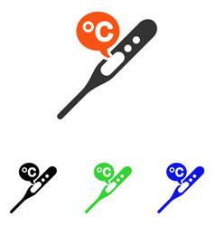 Celsius temperature flat icon vector