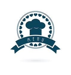 Chef menu log vector image
