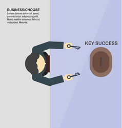 choose the key for team success vector image