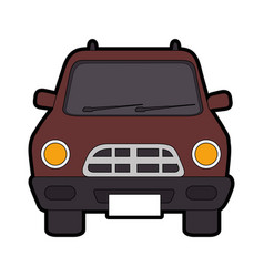 classic car vehicle vector image vector image