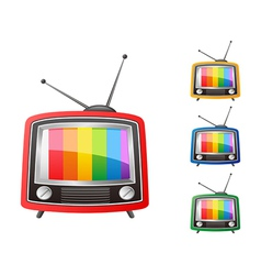 color retro tv vector image vector image
