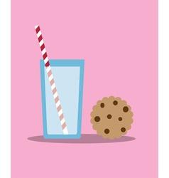 cookies and milk vector image