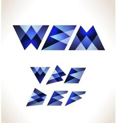 Creative alphabet set vector