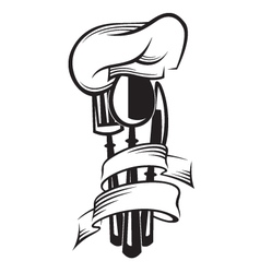 Cutlery and hat vector